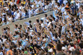 World cup rio de janeiro brazil july argentina soccer fans celebrating at the final game between argentina and germany at maracana Stock Photography