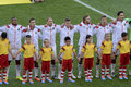 World cup rio de janeiro brazil july germany team posing for a photo during the fifa germany is facing argentina in the final at Stock Images