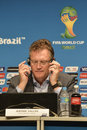 World cup rio de janeiro brazil july jerome valcke during press conference on the final balance of the at maracana stadium Royalty Free Stock Image