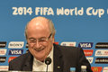 World cup rio de janeiro brazil july joseph s blatter during press conference on the final balance of the at maracana stadium Stock Images
