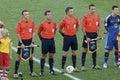 World cup rio de janeiro brazil july referees nicola rizzoli renato faverani andrea stefani carlos vera during the final game Stock Image