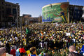 World Cup Soccer Fever Grips Sandton Stock Photo