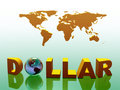World currency, dollar. Royalty Free Stock Photography