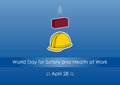 World Day for Safety and Health at Work Royalty Free Stock Photo