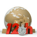 World delivery in twelve hours Royalty Free Stock Photos