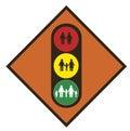 World demography. Traffic light Royalty Free Stock Photo