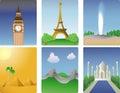 World destinations Royalty Free Stock Photo
