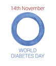 World diabetes day logo watercolor on white background isolated