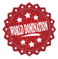 World domination grunge label, sticker