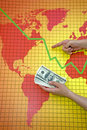 World economic crisis - money in hand Royalty Free Stock Photo