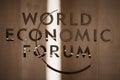 World economic forum in davos switzerland jan emblem of the Royalty Free Stock Photos