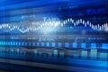 World economics graph stock market chart finance concept Royalty Free Stock Images