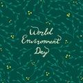 World Environment Day card. Vector hand drawn illustration.