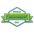 World Environment day greeting emblem