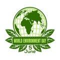 World Environment Day logo design