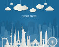 World famous Landmark. Global Travel And Journey Infographic Bag
