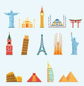 World famous travel landmarks Royalty Free Stock Photo