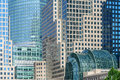 World Financial Center buildings and Winter Garden, NYC Royalty Free Stock Photo