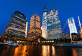 World Financial Center at night Royalty Free Stock Photo