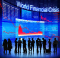 World Financial Crisis Royalty Free Stock Photo