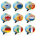 World flag icons Stock Images