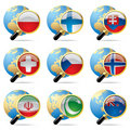 World flag icons Royalty Free Stock Photos