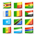 World flags. Africa. Royalty Free Stock Photos