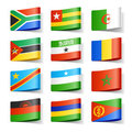 World flags. Africa. Stock Photos