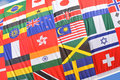 World flags colorful collage suitable as background Stock Photography