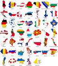 World flags - country border - European set Royalty Free Stock Photo