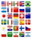 World Flags Flat Square Icon Set Royalty Free Stock Photo