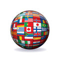 World Flags Globe. Vector Image Stock Image
