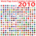 World flags icons collection Stock Photography