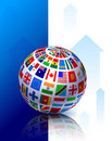 World Flags Internet Background Royalty Free Stock Photo