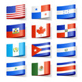 World flags. North America. Royalty Free Stock Photo
