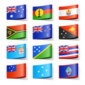 World flags. Oceania. Stock Photos