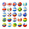 World Flags Round Badges, Magn...