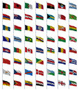 World Flags Set 1 of 4 Royalty Free Stock Images