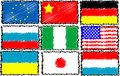 World flags set Royalty Free Stock Photography