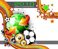 World Footbal Championship 2010 Background Stock Photos