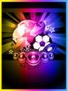 World Footbal Championship 2010 Background Royalty Free Stock Images