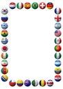World Football Teams Frame Royalty Free Stock Photo