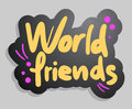 World friends Stock Photos