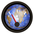 World Gasoline Meter Royalty Free Stock Photo