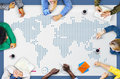 World Global Business Cartography Communication Concept Royalty Free Stock Photo