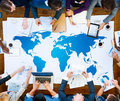 World Global Cartography Globalization Earth International Concept Royalty Free Stock Photo