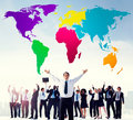 World global cartography globalization international concept Stock Photography