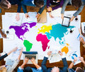 World Global Cartography Globalization International Concept Royalty Free Stock Photo