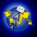 World or global email Royalty Free Stock Image