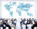 World globalization international life planet concept Stock Image
